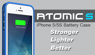 Atomic S Battery Case for iPhone 5/5S
