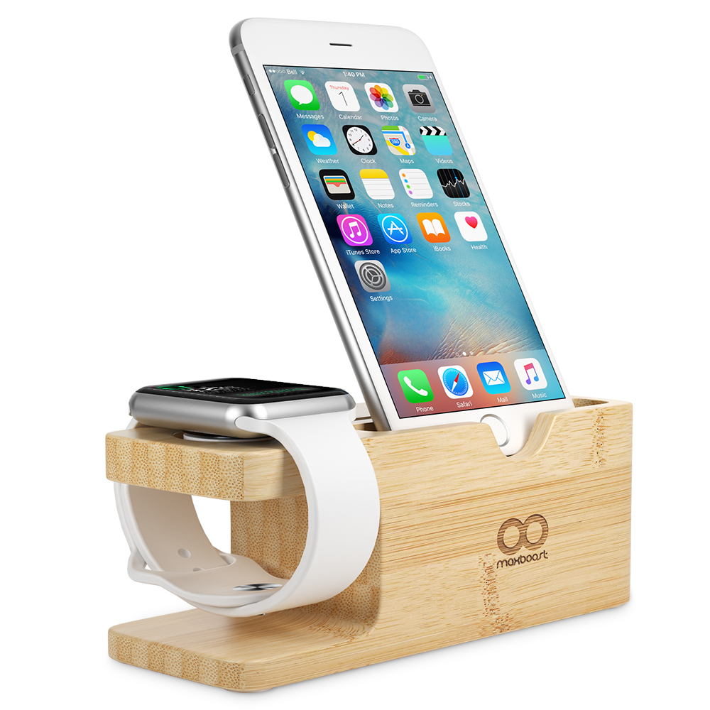 Charging Stand Bamboo Maxboost Case Iphone 5 5s 5se Kickstand Series Blackblack 001