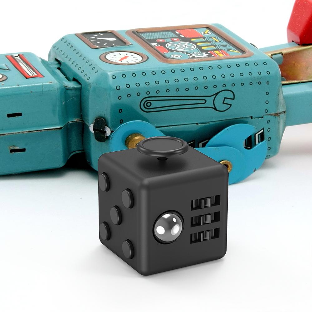 Fidget Cube Toy 6 Sides Black