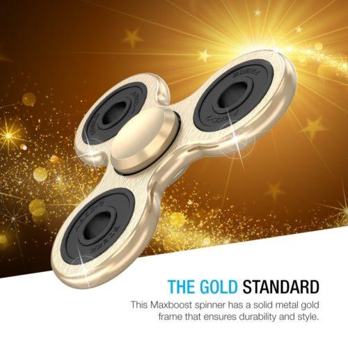 FidgetSpinner - Gold Metal (6)