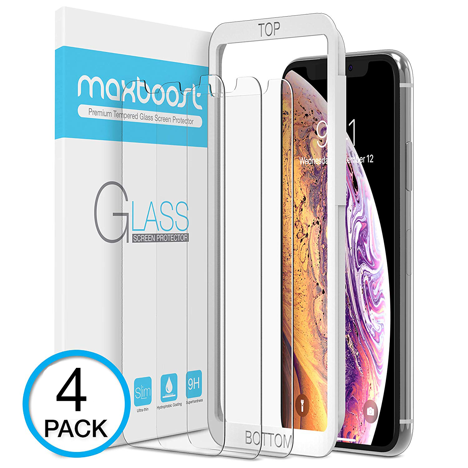 best service 55e71 09642 SCREEN PROTECTOR – IPHONE XS MAX [4 PACK]